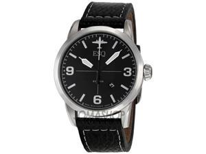 ESQ Beacon Black Leather Mens Watch 7301392
