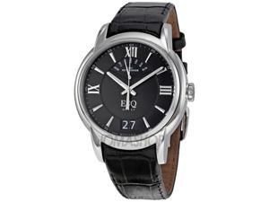 ESQ Quest Retrograde Black Leather Mens Watch 7301402