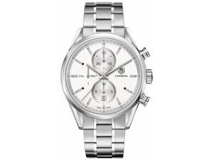 Tag Heuer Carrera Chronograph Silver Dial Steel Mens Watch CAR2111.BA0720