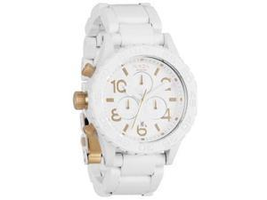 Nixon 42-20 Chrono White Dial Chronograph Stainless Steel Mens Watch A0371035-00