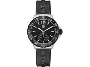 Tag Heuer F1 Black Dial Stainless Steel Mens Watch WAU1110FT6024