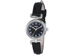 Timex Weekender Petite Casual Black Leather Strap Ladies Watch T2N660