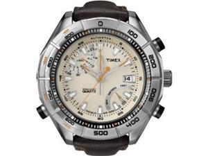 Timex Intelligent Quartz Beige Dial Altimeter Mens Watch T2N728