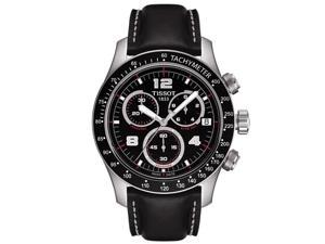 Tissot Sport V8 Black Dial Leather Mens Watch T039.417.16.057.02