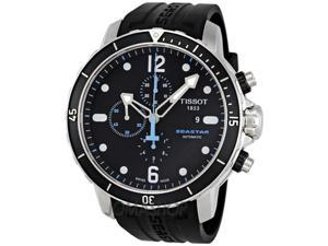 Tissot Seastar Chronograph Automatic Black Dial Mens Watch T0664271705700