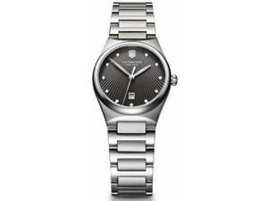 Victorinox Swiss Army Victoria Charcoal Dial Stainless Steel Ladies Watch 241512