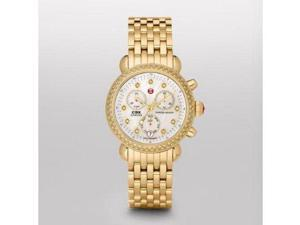 Michele CSX-36 Day Diamond Gold-plated Ladies Watch MWW03M000141
