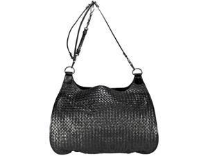 Bottega Veneta Woven Black Leather Extra-Large Shoulder Bag 180180/VCCE/1000