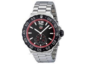 Tag Heuer Formula 1 Black Dial Stainless Steel Mens Watch WAU1114.BA0858