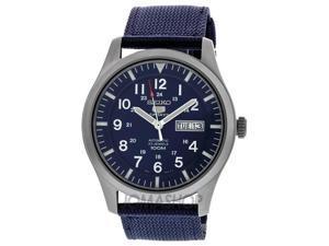 Seiko 5 Sport Automatic Navy Blue Canvas Mens Watch SNZG11