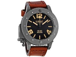 U-Boat Black Titanium Leather Automatic Mens Watch 6471