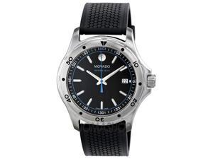Movado Series 800 Black/Blue Dial Mens Watch 2600101