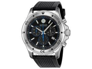Movado Series 800 Black/Blue Chronograph Mens Watch 2600102