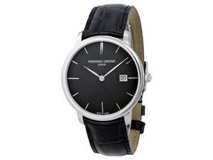 Frederique Constant Slim Line Black Sunray Mens Watch FC-220NG4S6