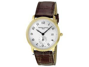 Frederique Constant Slim Line Silver Guilloche Gold-Plated Mens Watch 245AS4S5