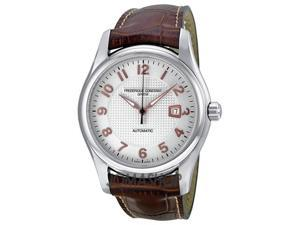 Frederique Constant Classics Chopin Silver Dial Brown Leather Watch 303RV6B6
