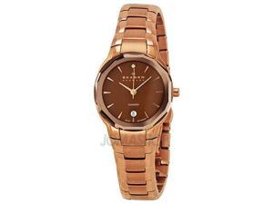 Skagen Black Label Architech Brown Dial Rose Gold-tone Ladies Watch 822SRXD