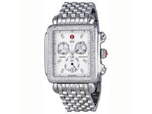 Michele Deco XL Mother of Pearl Stainless Steel Ladies Watch MWW06Z000001