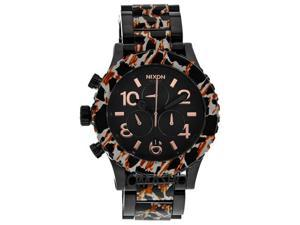 Nixon 42-20 Chronograph Leopard-print Black Dial Mens Watch A0371153