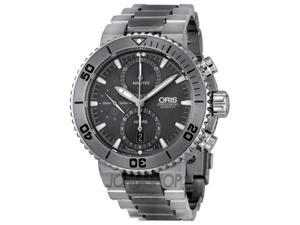 Oris Aquia Chrono Grey Dial Titanium Mens Watch 01 674 7655 7253-07 8 26 75PEB