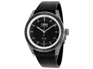 Oris Artix GT Day Date Black Dial Automatic Rubber Mens Watch 735-7662-4154RS