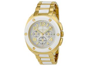 Michael Kors Tribeca Chronograph White Dial Gold-tone Ladies Watch MK5731
