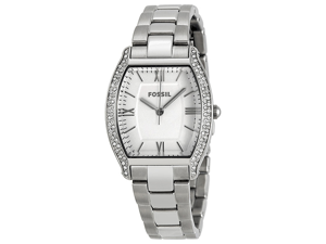 Fossil Women's Wallace ES3174 Silver Stainless-Steel Analog Quartz Watch with Silver Dial