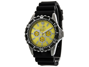 Invicta Signature II Divers Multi-Function Yellow Dial Mens Watch 7439