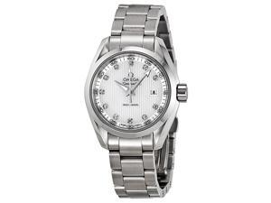 Omega Seamaster Aqua Terra Diamond Silver Dial Steel Ladies Watch 23110306055001