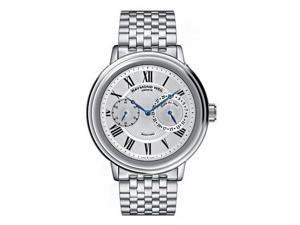 Raymond Weil Maestro Silver Dial Steel Chronograph Mens Watch 2846-ST-00659