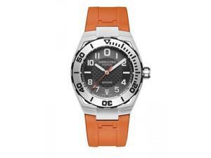 Hamilton Navy Sub Black Dial Steel Case Orange Rubber Strap Mens Watch H78615985