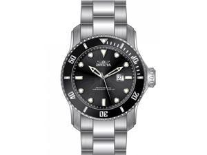 Invicta Men's 15075 Pro Diver Quartz 3 Hand Black Dial  Watch