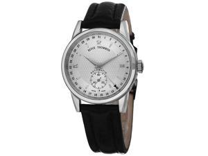 Revue Thommen Automatic Silver Dial Black Leather Mens Watch 12011.2532