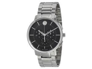 Movado Ultra-Thin Chronograph Black Soleil Dial Mens Watch 0606886