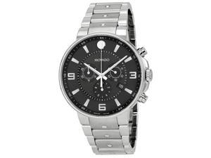 Movado SE Pilot Chronograph Black Dial Mens Watch 0606759