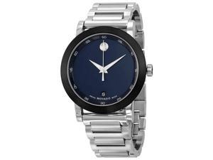Movado Museum Blue Dial Stainless Steel Mens Watch 0607004