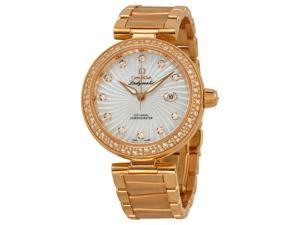 Omega Deville Ladymatic Mother of Pearl Dial 18kt Rose Gold Ladies Watch 42565342055001