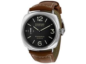 Panerai Radiomir Black Dial Brown Leather Mens Watch PAM00609