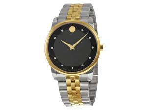 Movado Museum Black Dial Two-tone Mens Watch 0606879
