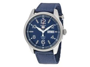 Seiko 5 Sports Automatic Blue Dial Blue Canvas Mens Watch SRP623