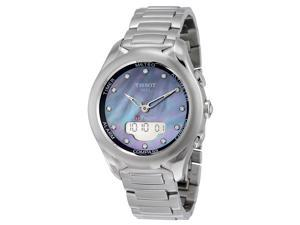 Tissot T-Touch Lady Solar Mother of Pearl Diamond Dial Stainless Steel Watch T0752201110601