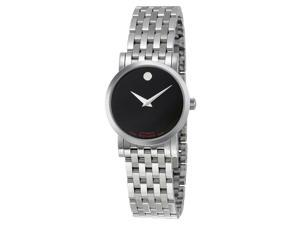 Movado Museum Black Dial Stainless Steel Ladies Watch 0606107