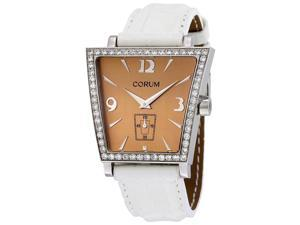 Corum Trapeze White Leather Diamond Ladies Watch 106404470009CR51