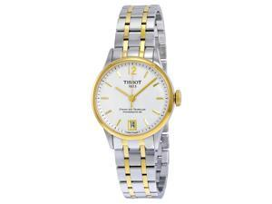 Tissot T-Classic Chemin Des Tourelles Automatic White Dial Two-Tone Stainless Steel Mens Watch T0992072203700