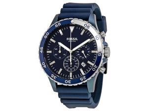 Fossil Crewmaster Blue Dial Chronograph Mens Watch CH3054