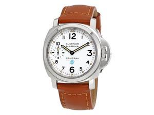 Panerai Luminor Marina Hand Wound White Dial Mens Watch PAM00660