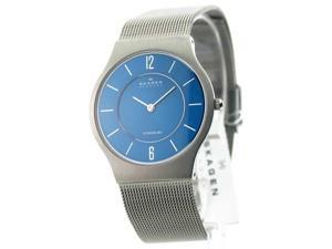 Mens Skagen Mesh Ultra Slim Titanium Dress Watch 233LTTN