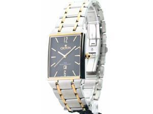 Mens Croton Steel Ultra Thin Two Tone Date Watch CN307247TTBK