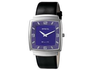 Mens Invicta Ultra Slim Black Leather Watch 5136