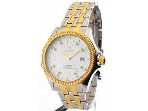 Mens Croton Steel Automatic Two Tone Date Watch CA301193TTDW